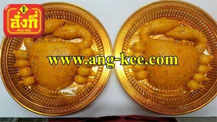 ขันหมากแต่งงานไทย ขนมปูคู่ ใส่ถาดทองสวยงามพร้อมแห่